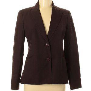 Lafayette 148 New York Brown Wool Blazer Jacket
